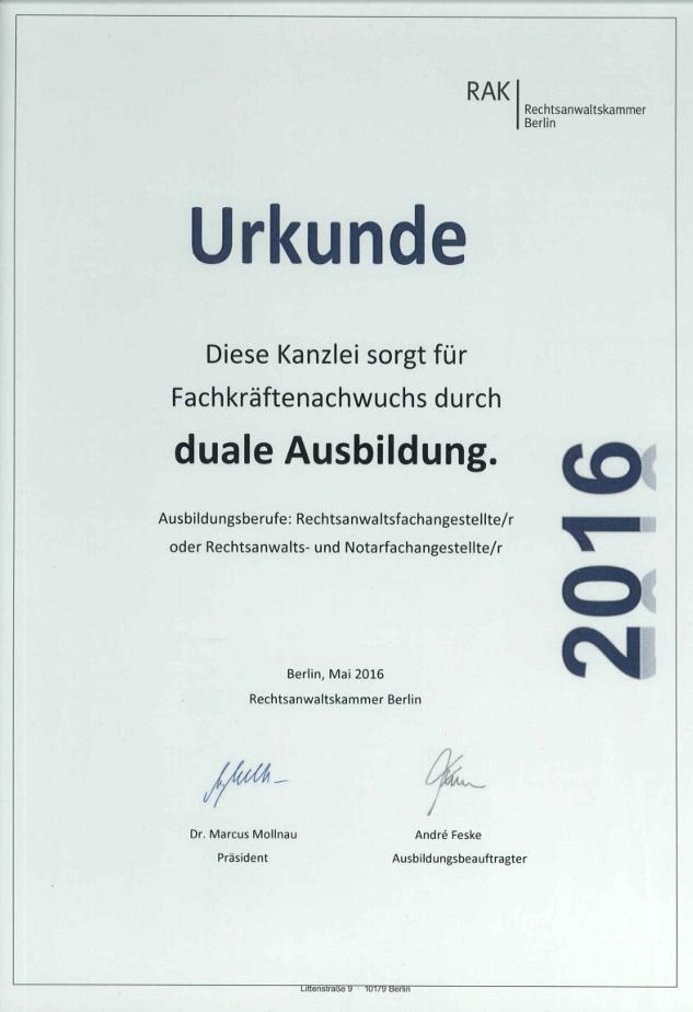 Rechtsanwälte Pahn Schubert Und Koll Kanzlei Berlin